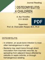 Osteomyelitis Akut Pada Anak-Anak