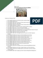 Daftar Standar Kompetensi Kerja Nasional Indonesia (SKKNI)