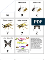 Insect Alphabet Cards