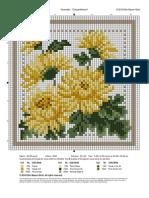 Chrysanthemeum Cross Stitch