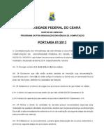 EditalMDCC Turma2014 MESTRADO Portaria 01