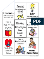 comprehension strategies reminder sheet