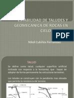 Estabilidad de Taludes y Geomecanica de Rocas
