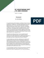 Vegetarian Diet and Health