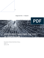 Impact Resistance and the Effect of Temperature
