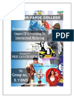 3886183 Final Copy of International Marketing Project on ADVERTISING