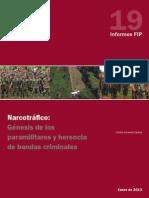 FIP. Narcotrafico. Genesis de Los Paramilitares y Herencia de Bancas Criminales.