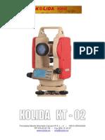 Manual Teodolito KOLIDA KT 02