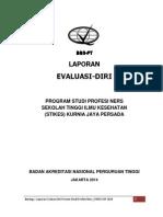 Borang Evaluasi Diri Profesi Ners 2014-