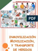 Inmovilizacion Movilizacion y Traslado de Heridos