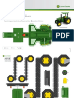 Paper_toy Tractor Jhon Deere