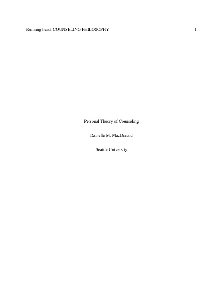 how to write a philosophy of counseling paper