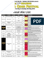 2014 Real Ale List