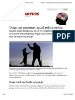 Dogs-An Uncomplicated Relationship