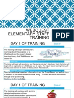 Web Quest Training Story Boards