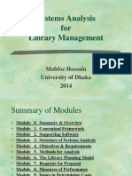 Systems Analysis for Library Management
