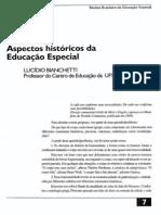 Aspectos Históricos Da Educação Especial
