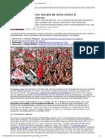 Chile Como Escuela de Lucha Contra El Neoliberalismo