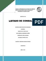Listado de Consultas