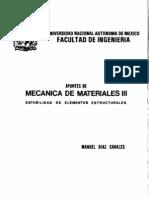 [MECANICA de MATERIALES] Apuntes de Mecanica de Materiales III [UNAM] - Manuel Diaz Canales (Modificado)