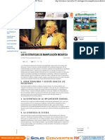 Las 10 Estrategias de Manipulación Mediática - MBC Times