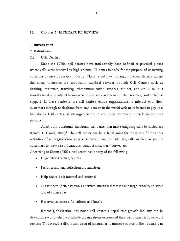 Literature review customer satisfaction