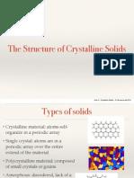 Aula 3 - Crystalline Solids