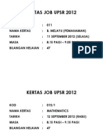 Kertas Job Upsr 2012