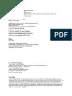 12690652 Paul Ricoeur de La Text La Actiune Eseuri de Hermeneutica 2