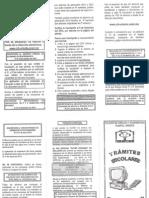 Cch Oriente - s. Adm. Escolar - Fechas de Trámites a Realizar en El Ciclo 2013-2014. Octubre, 2013