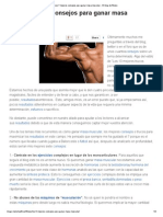 Los 7 Mejores Consejos Para Ganar Masa Muscular - El Blog de Fitness