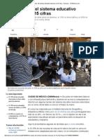 Los 'Taches' Del Sistema Educativo Mexicano en 15 Cifras - Nacional - CNNMexico