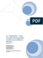 """La """"Repetición"""" Como Antesala Del Abandono Escolar en Castilla-La Mancha"""