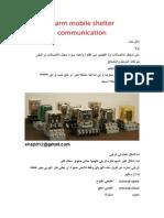 Alarm Mobile Shelter Communication