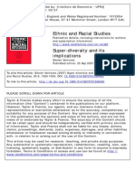 Superdiversity and Its Implications & Ethnic and Racial Studies