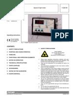 Speed of Light Meter Manual