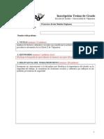 Formulario Tesina 2014
