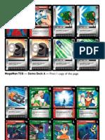 MegaMan TCG - Demo Deck A