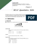 MCAT Math PortionMCAT