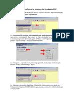 Transformando Imposto de Renda Em PDF