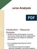 BA Technique Resource Analysis