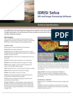 IDRISI Selva GIS Image Processing Specifications