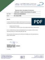 CIRCULAR-41468-Quality Control Section Procedure