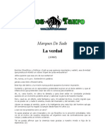 Sade, Marques de - La Verdad