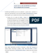 UNIDAD 1 - Pasos Para Crear Un Sitio Web ASP.net Con Visual Studio