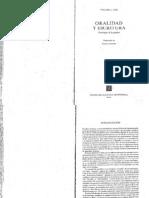 Ong Walter, Oralidad Y Escritura (Introducción y Cap. 1)