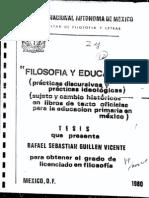 Filosofia y Educacion