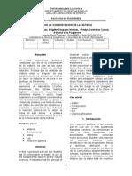 Informe de Laboratorio Quimica Inorganica - Ley de La Conservacion de La Materia