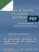 Enfoque Diagnóstico Del Paciente Reumático
