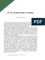 524142 Leo Strauss on the Interpretation of Genesis
